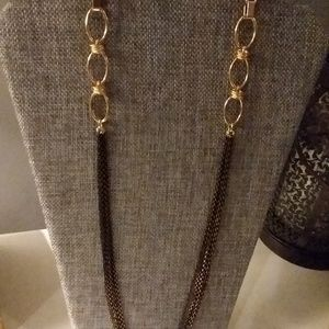 Long Gold/Black Chain Necklace
